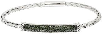 Affinity Diamond Jewelry Affinity 5/8 cttw Woven Champagne Diamond Bracelet, Sterling