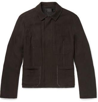 Haider Ackermann Contrast-Stitched Linen Jacket