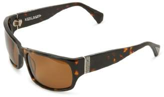 King Baby Studio Sunglasses Tortoise Spectre E26-0009 Polarized Wrap Sunglasses