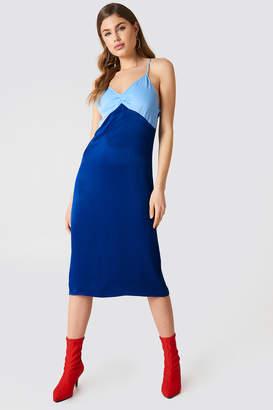 NA-KD Na Kd Block Colored Slip Dress