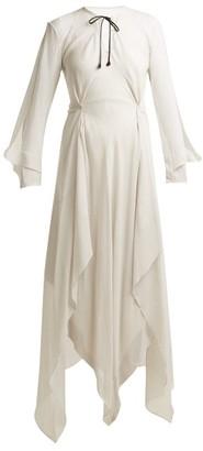 Roland Mouret Austonley Draped Silk Crepe Dress - Womens - Ivory