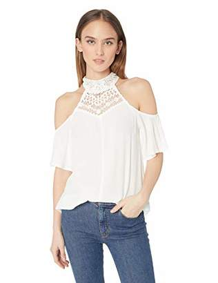 Sugar Lips Sugarlips Women's Jessy Cold Shoulder LACE TOP