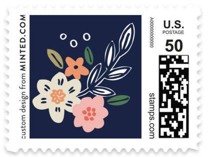 Wildflower Crest Non-custom Everyday Stamps