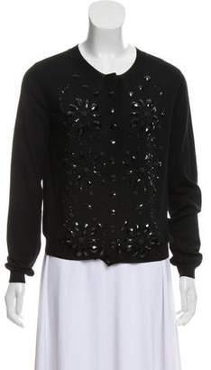 Lanvin Embellished Wool Cardigan