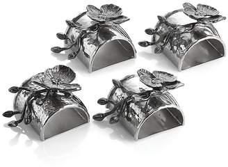 Michael Aram Black Orchid Napkin Rings, Set of 4