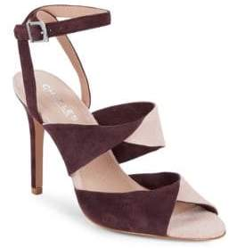 Charles David Radley Suede Ankle-Strap Sandals
