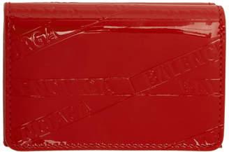 Balenciaga Red Mini Ville Wallet