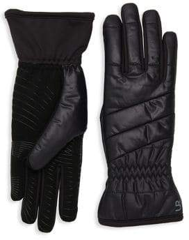 URBAN RESEARCH Powered Quilted Faux Fur Gloves