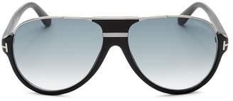 Tom Ford Men's Dimitry Flat Top Aviator Sunglasses, 61mm