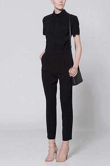 HUGO BOSS Crepe jumpsuit with cutout detail