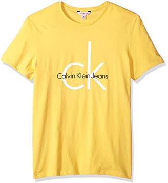 Calvin Klein Jeans Men's Short Sleeve Classic Logo Crew Neck T-Shirt