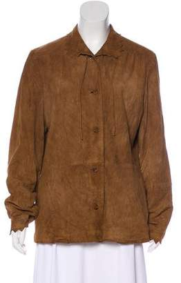 Paul & Joe Suede Button-Up Jacket