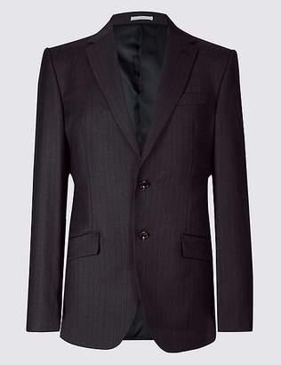 Marks and Spencer Striped Regular Fit Wool Jacket