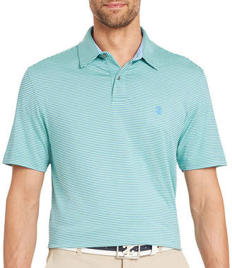 Izod Golf Champion Grid Short Sleeve Stripe Polo Shirt