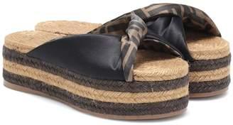 Fendi Satin platform espadrille sandals 4d0937fc1e7