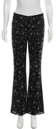 Laundry by Shelli Segal Mid-Rise Embellished Pants