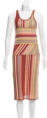 Missoni Scoop Neck Midi Dress Orange Scoop Neck Midi Dress