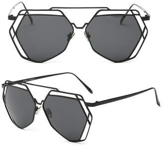 b0e2f7ee0f39 Youtato Womens Polarized Sunglasses Fashion Mirror Lens Metal Frame UV400