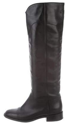 Chanel Round-Toe Knee-High Boots Black Round-Toe Knee-High Boots