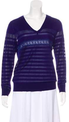 Nina Ricci Wool & Silk Striped Sweater w/ Tags