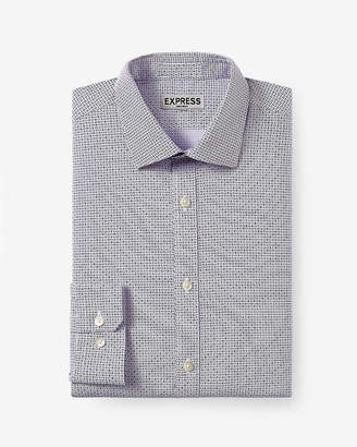 Express Slim Micro Geo Print Non-Iron Dress Shirt