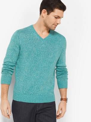Michael Kors Linen and Cotton V-Neck Pullover