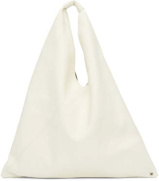 MM6 MAISON MARGIELA White Leather Regular Tote