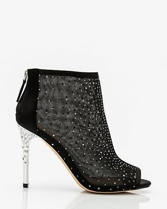 Le Château Jewel Encrusted Peep Toe Shoe Bootie
