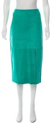 Diane von Furstenberg Suede Midi Skirt