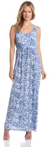 Chaus Women's Sleeveless Tank Tropical Palms Maxi Dress