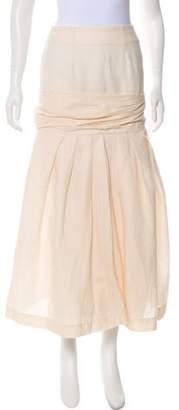 Jacquemus Linen Midi Skirt
