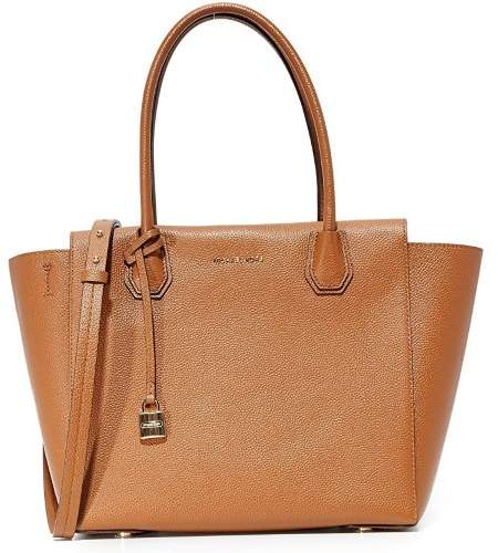 Michael Kors Mercer Large Leather Tote - LUGGAGE - STYLE