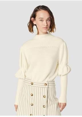 Derek Lam 10 Crosby Puff Sleeve Merino Wool Sweater