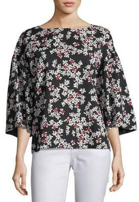 Lafayette 148 New York Gwendolyn Fresh Floral-Print Blouse, Plus Size