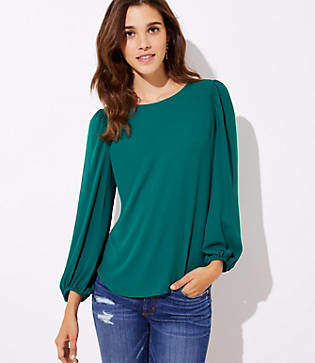 LOFT Blouson Sleeve Top