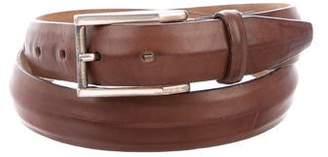 Paul Smith Brass Buckle Leather Belt