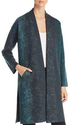 Eileen Fisher Abstract Print Kimono Coat