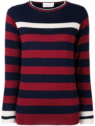 Chiara Bertani horizontal stripe jumper
