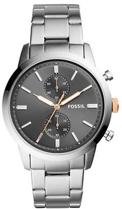 Fossil Chronograph Townsman Stainless Steel Bracelet Watch