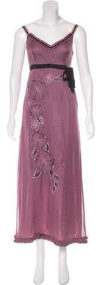 Philosophy di Alberta Ferretti Embroidered Silk Dress