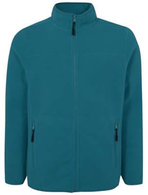 George Blue Zip-Up Fleece Jacket