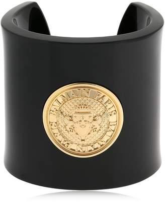 Balmain Logo Coin Plexi & Brass Bracelet