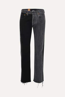 Vetements + Levi's Mid-rise Straight-leg Jeans - Black