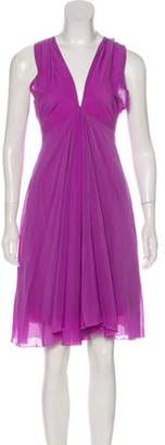 Just Cavalli Sleeveless Knee-Length Dress Purple Sleeveless Knee-Length Dress