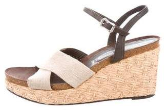 Donald J Pliner Canvas Platform Wedges