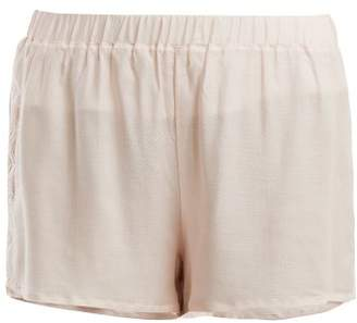 Hanro Liane Lace Panel Shorts - Womens - Light Pink