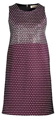 MICHAEL Michael Kors Women's Geo Mix Sleeveless Shift Dress