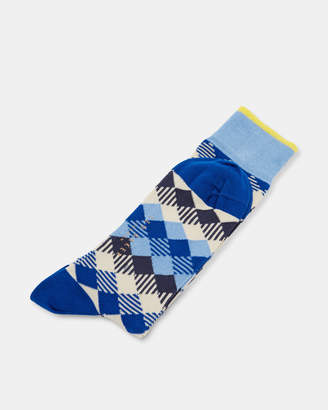 Ted Baker PHEEW Diamond print cotton socks