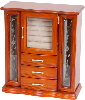 Richmond FINE JEWELRY Mele & Co. Upright Walnut-Finish Wood Jewelry Box