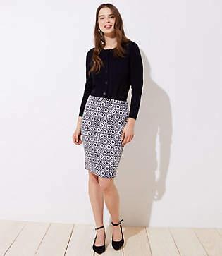55ff3dd7343 LOFT Petite Floral Jacquard Pull On Pencil Skirt